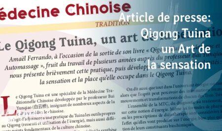 Qigong tuina, un art de la sensation – Journal MTC