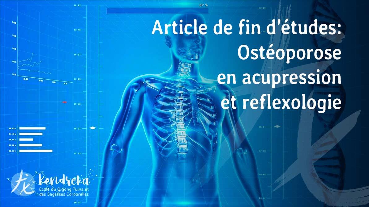 Article ostéoporose en médecine Chinoise