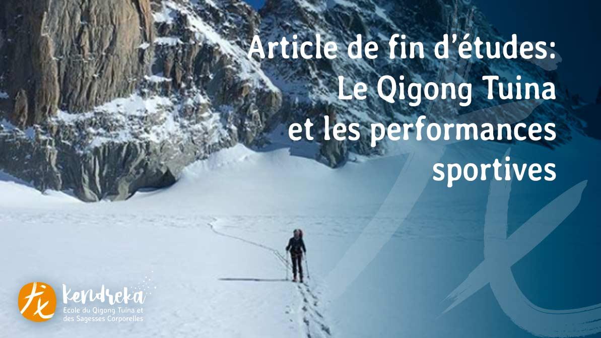 Article sur les performances sportives dans la médecine Chinoise
