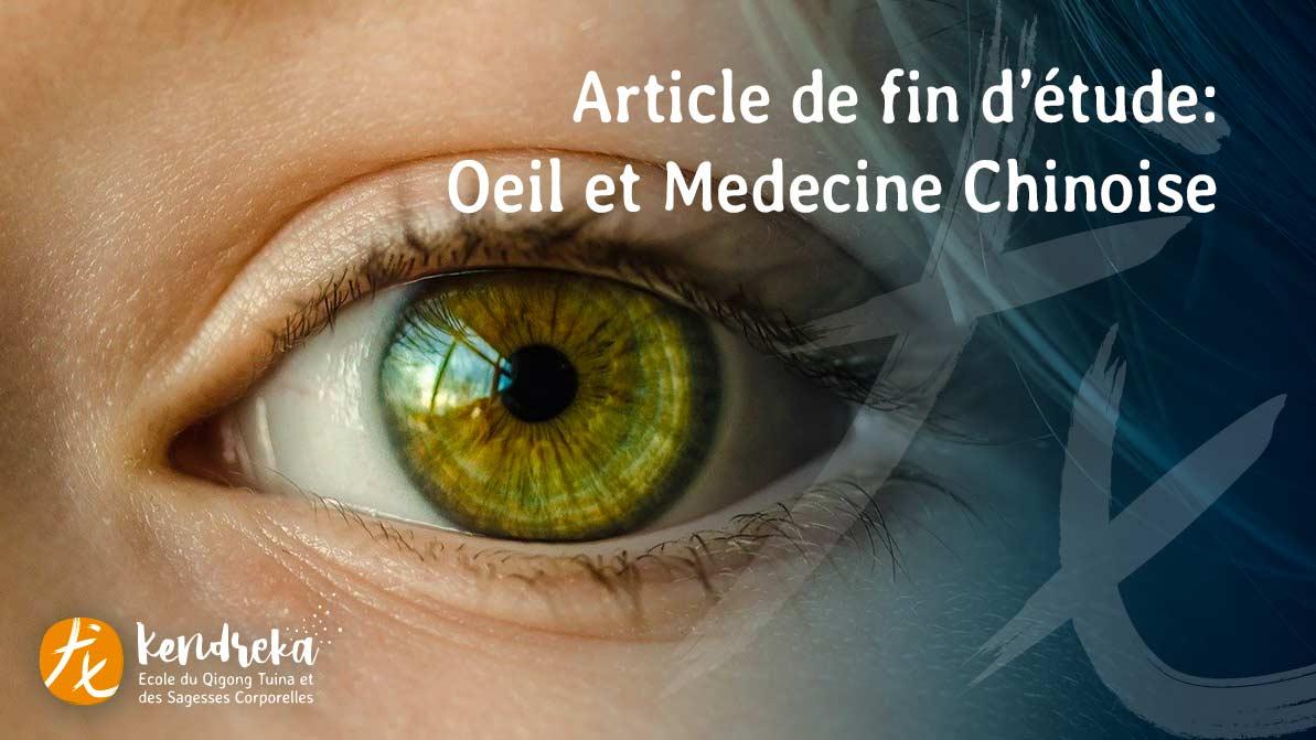 Article: Oeil et Medecine Chinoise