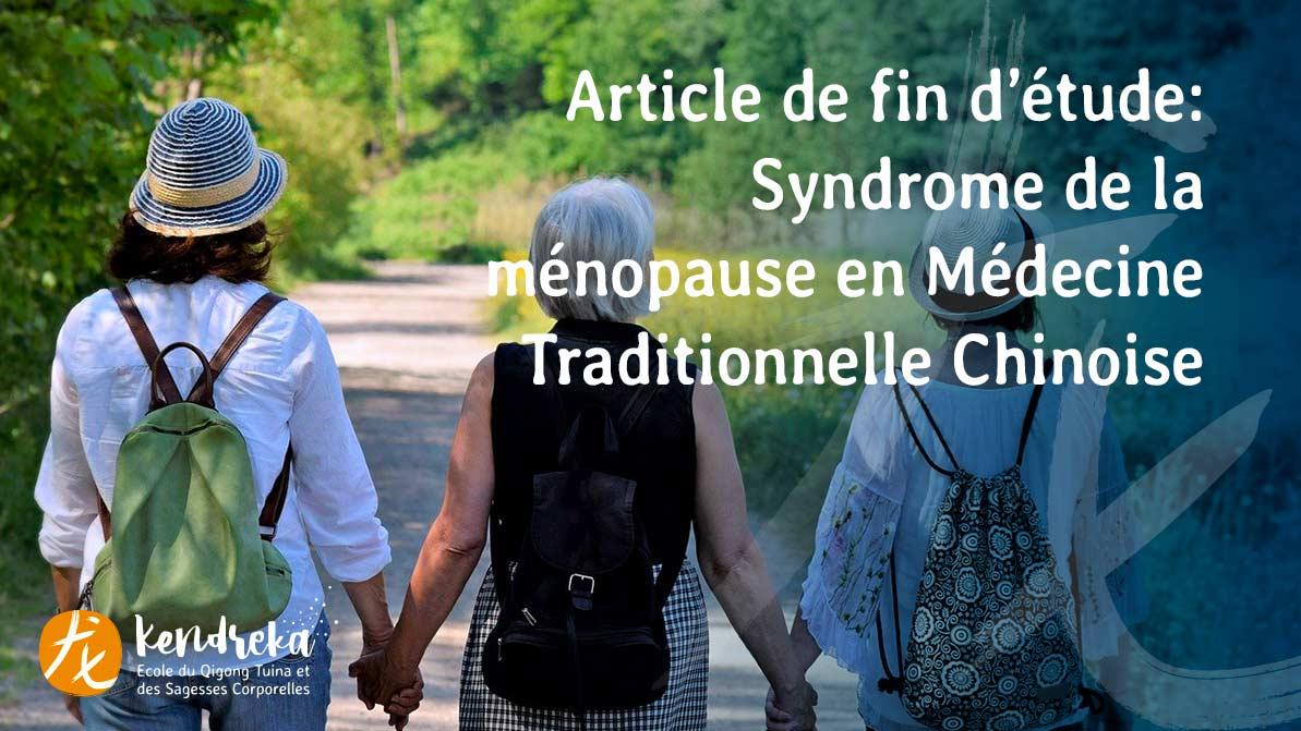 Article: syndrome ménopause en MTC