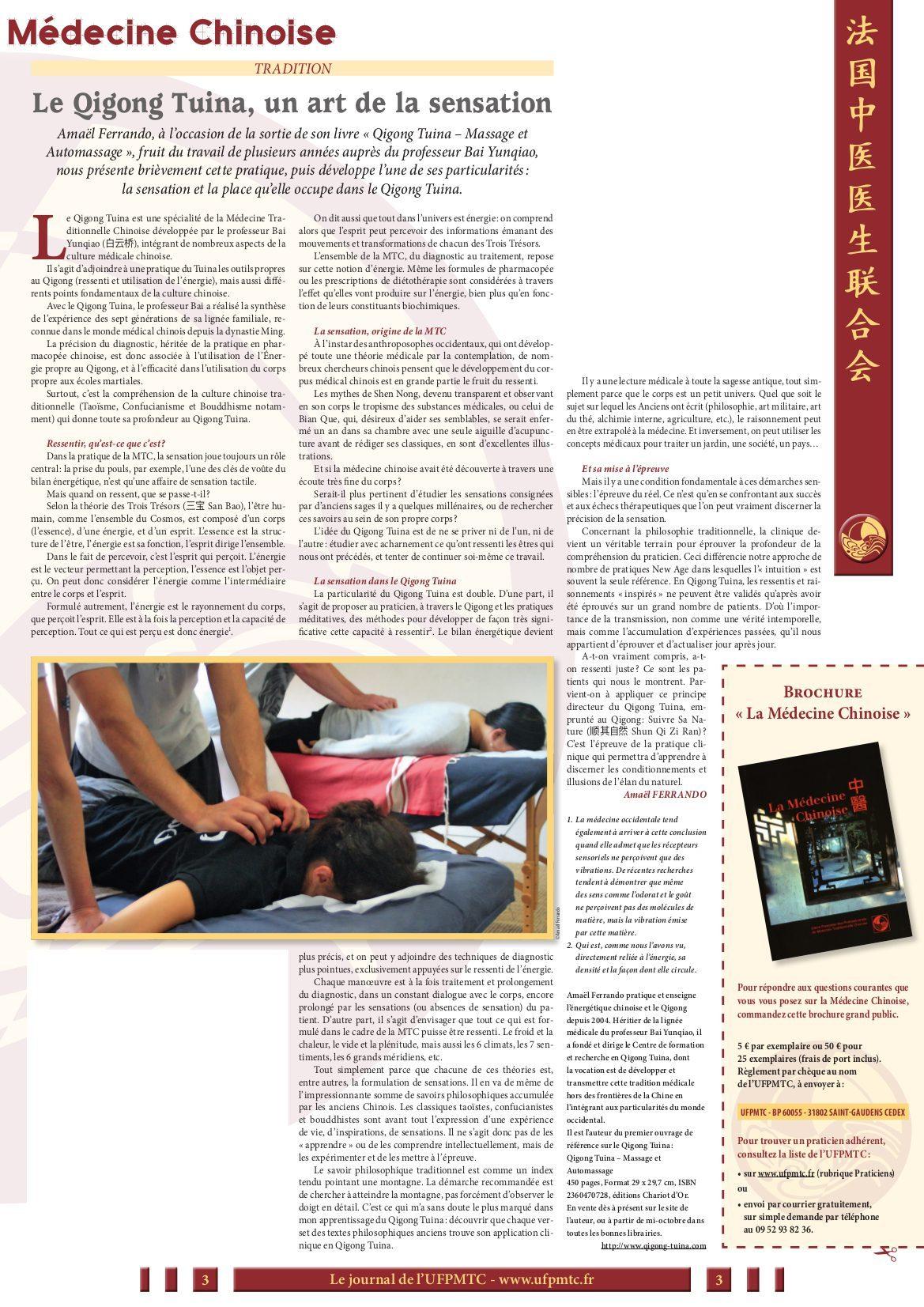 Article Qigong Tuina Amael Ferrando