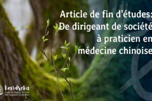 Article reconversion en médecine chinoise
